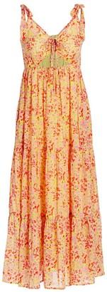 Banjanan Zoe Floral Pleated Midi Dress
