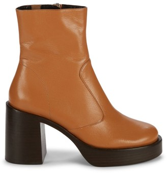 Simon Miller Raid Leather Platform Ankle Boots