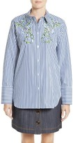 ADAM by Adam Lippes Women's Floral Embroidered Shirt