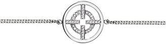 Akillis A License To 18K White Gold Diamond Pendant Bracelet