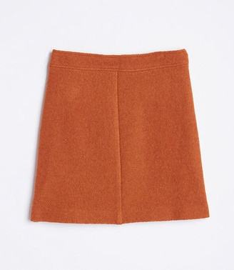 LOFT Wooly Button Tab Skirt