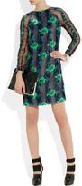 Christopher Kane Floral-print velvet dress