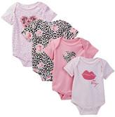 Betsey Johnson Printed Bodysuits - Set of 4 (Baby Girls)