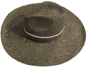 MARCUS ADLER Open Weave Wide Brim Hat