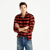 J.Crew Slim cotton-wool elbow-patch shirt in red-and-black plaid