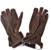 Trussardi Men's Brown Suede Gloves.