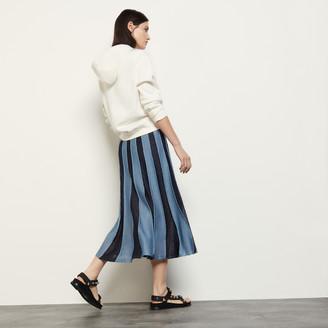 Sandro Long lurex knit skirt