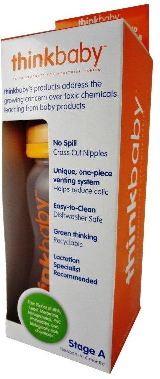 Thinkbaby Bottle - Stage A - Orange - 9 oz