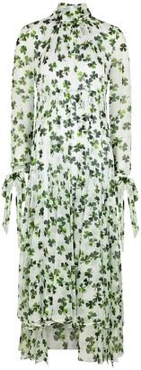 Loewe Lavalliere printed silk maxi dress