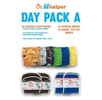 Lil Helper Cloth Diaper System - Day Pack A