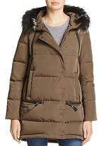 Derek Lam 10 Crosby Fox Fur Trim Multizip Down Jacket