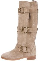 Burberry Suede Mid-Calf Boots
