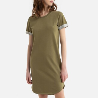 Jacqueline De Yong Cotton Mix T-Shirt Dress with Short Sleeves