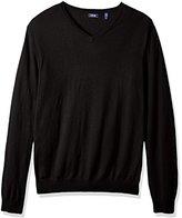 Izod Men's Big and Tall Fine Gauge Solid Vneck Sweater