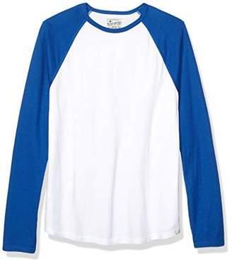 Lucky Brand Men's Raglan Crew Neck Double Knit Shirt