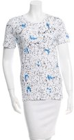 Carven Abstract Print Short Sleeve Top w/ Tags