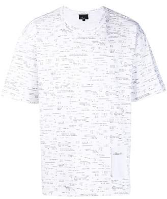 3.1 Phillip Lim Boxy T-Shirt – Receipt Print