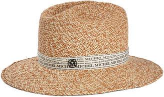 Maison Michel Henrietta Logo Tape Fedora Hat