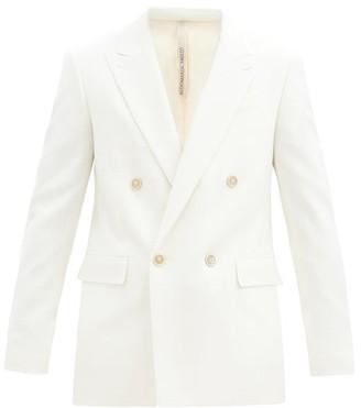 Aldo Maria Camillo - Double-breasted Wool-twill Jacket - Cream