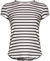 Frame Round-neck striped jersey T-shirt