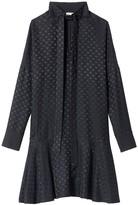 Tibi Dot Jacquard Dolman Dress in Black