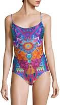 Luli Fama Women's One-Piece Multicolored Floral Swimsuit