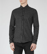 Reiss Galvanise Checked Brushed Cotton Shirt