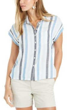 Style&Co. Style & Co Petite Printed Camp Shirt, Created for Macy's