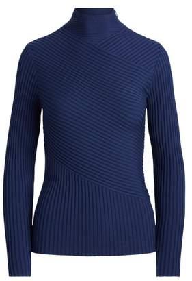 Ralph Lauren Ribbed Merino Mockneck Sweater