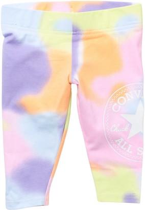 Converse Tie-Dye Logo Print Capri Leggings