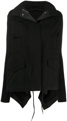 Sacai Oversized Panelled Parka Jacket
