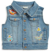 Margherita Kids Girls 2-6x Girls' Patch Accented Denim Vest