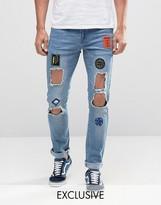 Hero's Heroine Heros Heroine Skinny Jeans With Distressing