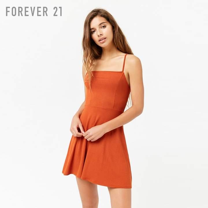 Forever 21 (フォーエバー 21) - Forever 21 フレアキャミソールミニワンピース