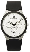 Danish Design Men's 40mm Silver-Tone Leather Band Steel Case S. Sapphire Quartz Dial Watch IQ12Q885