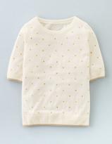 Boden Knitted Glitter Spot Top