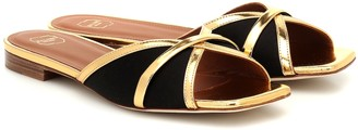 Malone Souliers Perla leather-trimmed satin sandals