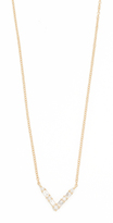 Ef Collection 14k Gold Diamond Chevron Necklace