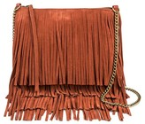 T-Shirt & Jeans Women's Faux Leather Fringe Crossbody Handbag