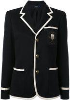 Polo Ralph Lauren contrast piping blazer - women - Cotton/Polyester - 10