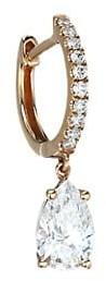 Anita Ko 18K Rose Gold & Diamond Drop Pave Huggie Single Earring
