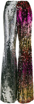 Halpern sequin flared trousers