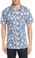 Nordstrom Men's Slim Fit Pineapple Camp Shirt