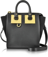 Sophie Hulme Black Leather and Suede Small Holmes North South Zip Tote