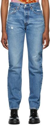 Levi's Blue Denim 501 Original Fit Jeans