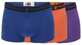 Beverly Hills Polo Club Multi-coloured Pack Of Three Hipster Trunks