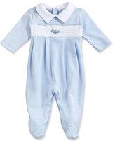 Kissy Kissy Fly Away Collared Pima Footie Pajamas, Blue, Size Newborn-9 Months