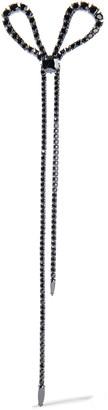 Zimmermann Bow Long Gunmetal-tone Crystal Earring