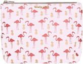 Fenella Smith - Flamingo & Pineapple Vegan Leather Washbag