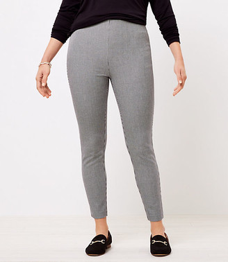 LOFT The Tall Curvy Side Zip High Waist Skinny Pant in Puppytooth